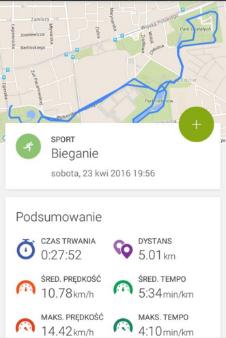pierwszy bieg na 5 kilometrów